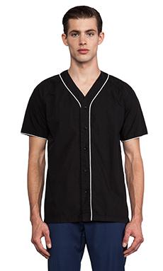Shades of Grey by Micah Cohen Baseball Shirt in Black
