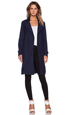 Shades of Grey by Micah Cohen Lightweight Trench in Dark Blue