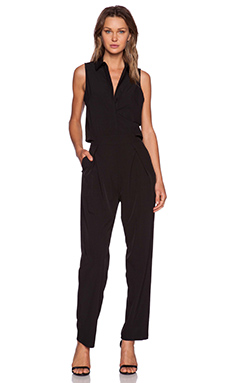 Shades of Grey by Micah Cohen Peek-A-Boo Jumpsuit in Black