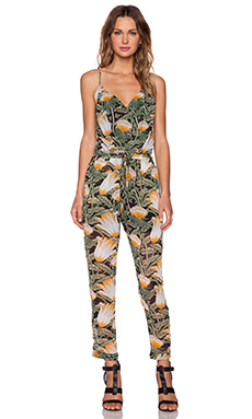Shades of Grey by Micah Cohen Spaghetti Strap Jumpsuit in Jungle Flower