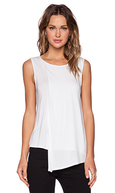 Shades of Grey by Micah Cohen Two Layer Tank in White