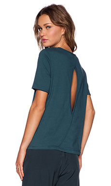 Shades of Grey by Micah Cohen Keyhole Tee in Teal