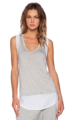 Shades of Grey by Micah Cohen Racerback Shirttail Tank in Heather Grey