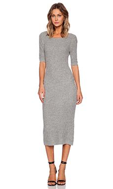 SHAE Cashmere Midi Dress in Heather Grey