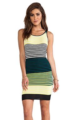 SHAE Tank Dress in Lemon Stripe