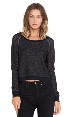 SHAE Cropped Pullover Sweater in Black