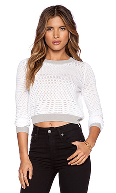 SHAE Becca Pullover in Off White Combo