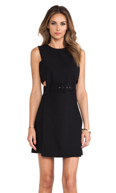 Shakuhachi Tailored Cut Out Dress in Black