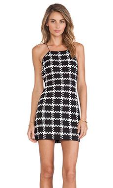 Shakuhachi Check Weave Dress in Black & White
