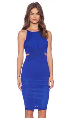 Shakuhachi Cutaway Dress in Cobalt