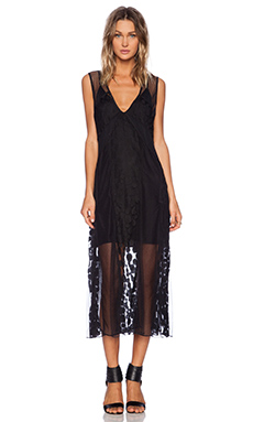 Shakuhachi Avalon Mash Dress in Black