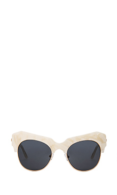 Shakuhachi Cosmic Love Sunglasses in Pearly White