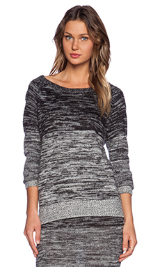 Shakuhachi Gradient Knit Sweater in Charcoal Mix