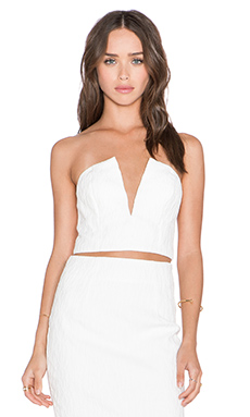 Shakuhachi Cracked 3D Bustier in White