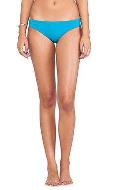 Shakuhachi Neoprene Minimal Bikini Bottom in Turquoise