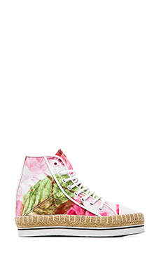 Shakuhachi Floral Dreams Hightop Sneakers in Print