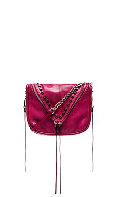 she + lo Breakthrough Zip X Body Bag in Berry
