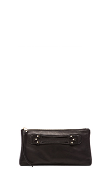 she + lo Next Chapter Clutch in Black