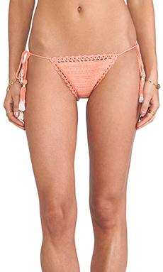 SHE MADE ME Brazilian Bikini Bottom in Peach