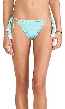SHE MADE ME Brazilian Bikini Bottom in Turquoise