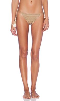 SHE MADE ME Brazilian Bikini Bottom in Sand