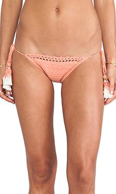 SHE MADE ME Tie Side Bikini Bottom in Peach