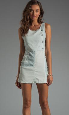 Shona Joy Go Your Own Way Patchwork Denim Dress in Chambray