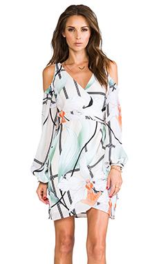 Shona Joy Glass House Wrap Mini Dress in Multi