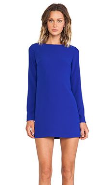 Shona Joy Magnetic Long Sleeve Shift Dress in Cobalt
