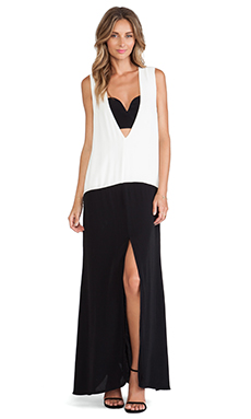 Shona Joy Bauhaus Spliced Maxi Dress in Black & White
