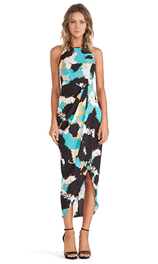 Shona Joy Palette Draped Maxi Dress in Multi