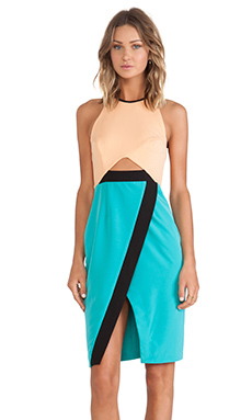 Shona Joy New Wave Cross Over Bodycon Dress