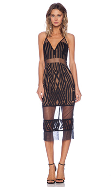 Shona Joy The Desired Cocktail Midi Dress in Black