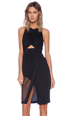 Shona Joy The Caged Bodycon Dress in Black