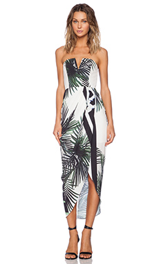 Shona Joy The Savage Bustier Dress in Multi
