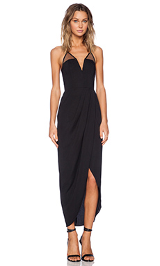 Shona Joy Brave & Brazen Bustier Maxi Dress in Black