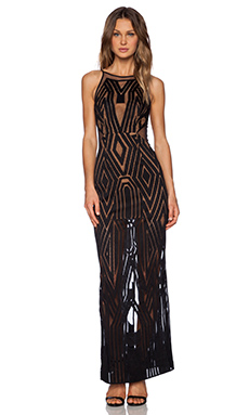 Shona Joy The Desired Backless Maxi Dress in Black