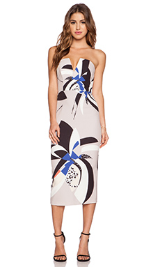 Shona Joy Dessau Bustier Midi Dress in Multi