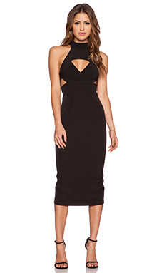Shona Joy The Modernists Midi Dress in Black