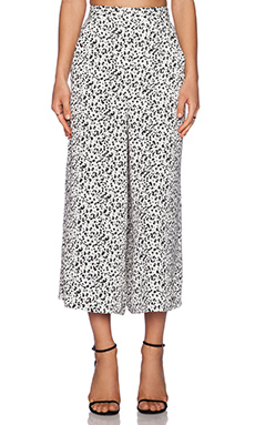Shona Joy Berlin Long Line Culottes in Black & White