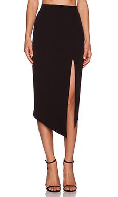 Shona Joy The Modernists Asymmetric Midi Skirt in Black