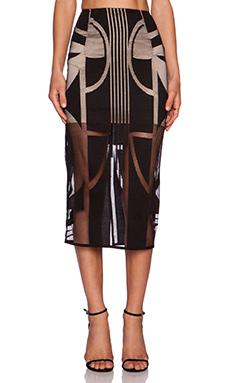 Shona Joy Seidler Midi Pencil Skirt in Black