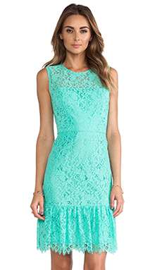 Shoshanna Lace Dress in Aquamarine