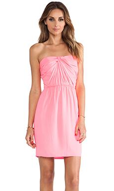 Shoshanna Strapless Zoya Dress in Neon Pink