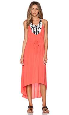 Shoshanna Graphic Embroidery Maxi Dress in Poppy