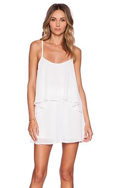 Show Me Your Mumu Dez Drape Dress in White Chiffon