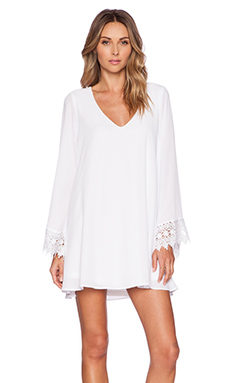 Show Me Your Mumu Portabella Dress in White Crisp