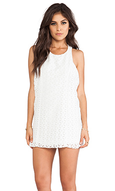 Show Me Your Mumu Love Dress in White Butterfly Lace