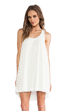 Show Me Your Mumu Montauk Tent Dress in Diamond Crochet