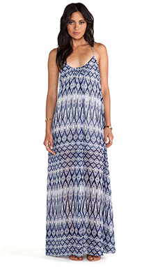 Show Me Your Mumu Trapeze Maxi Dress in Diamond Waterfall